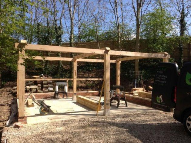 Traditional Oak Framed 2 Bay Carport Dreamscape
